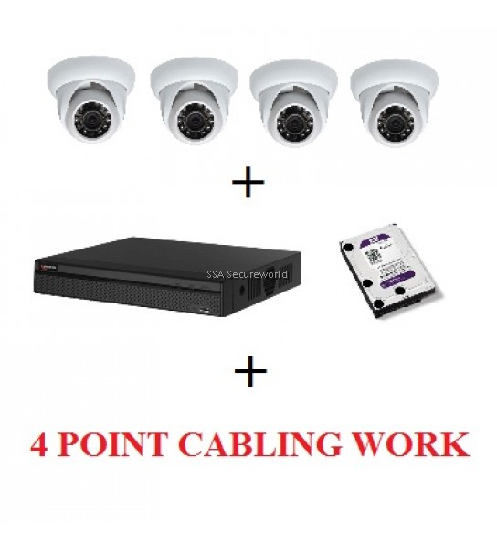 HD-CVI 4 CHANNEL PACKAGE - Camera