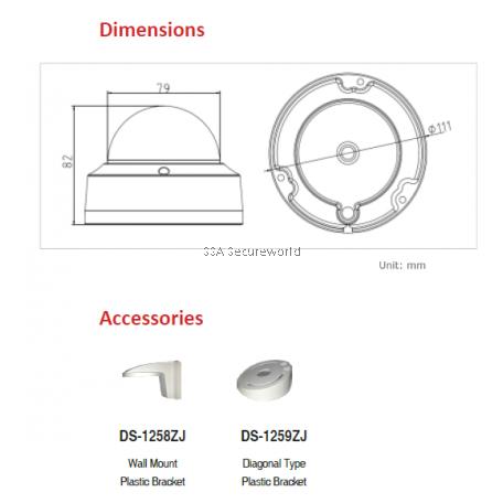 3MP IR Fix Dome Camera